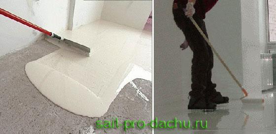 Что сначала шпаклевание стен или наливной пол пу-555 - наливной пол производитель