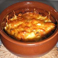 картофель в духовке в горшочке