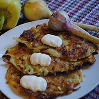 Деруны с картошкой и кабачками