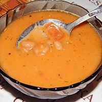 постный суп с фасолью консервированной