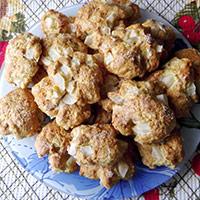 песочное яблочное печенье
