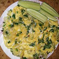 яичница со шпинатом рецепт
