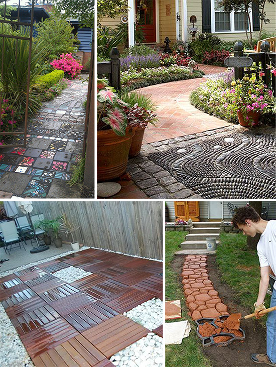 Как украсить двор своими руками с помощью подручных 44