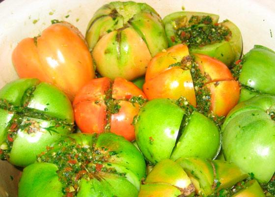 Зеленые помидоры как в детском саду