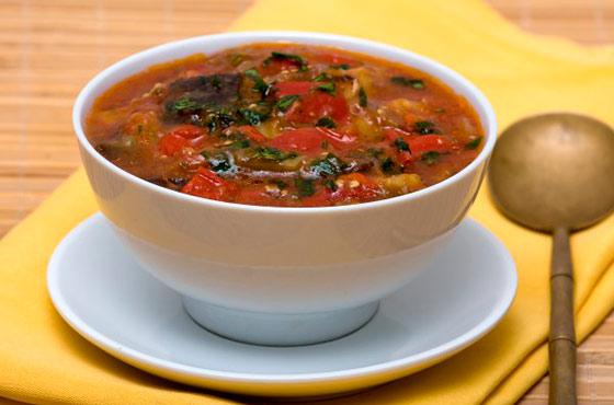 Суп с баклажанами и мясом