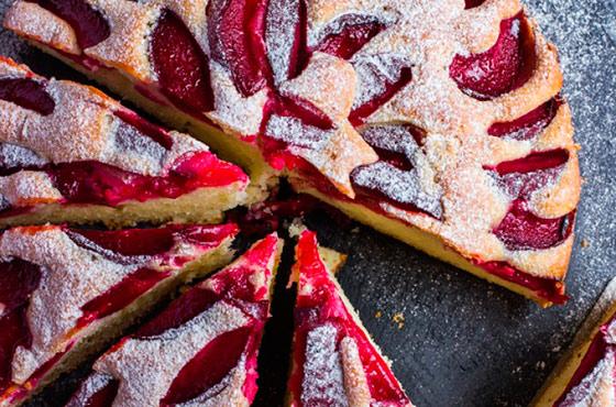пирог из сливы рецепт с фото в мультиварке