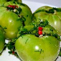 Способ засолки зеленых помидоров