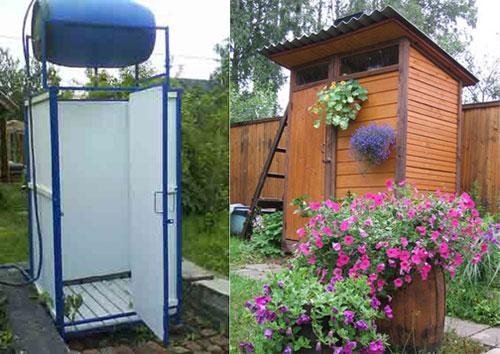 Дачный туалет и душ строим своими