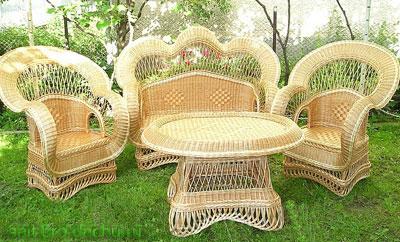 Мебель для сада и дачи из лозы