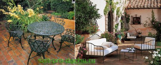 Мебель для сада и дачи из металла