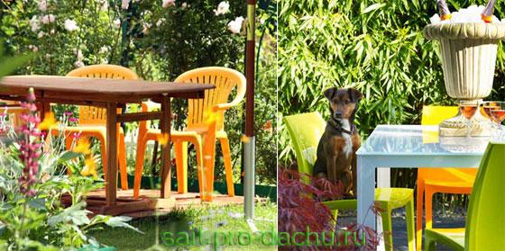 Мебель для сада и дачи из пластика