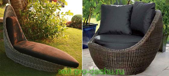 Мебель для сада и дачи из ротанга