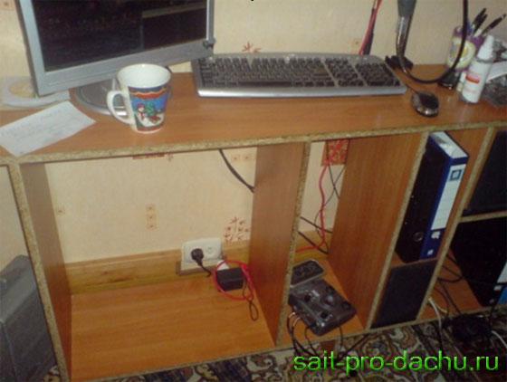 Из чего сделать компьютерный стол своими руками