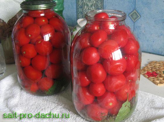 Заготовки из помидоров без стерилизации