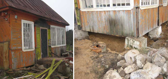 Как укрепить фундамент на даче