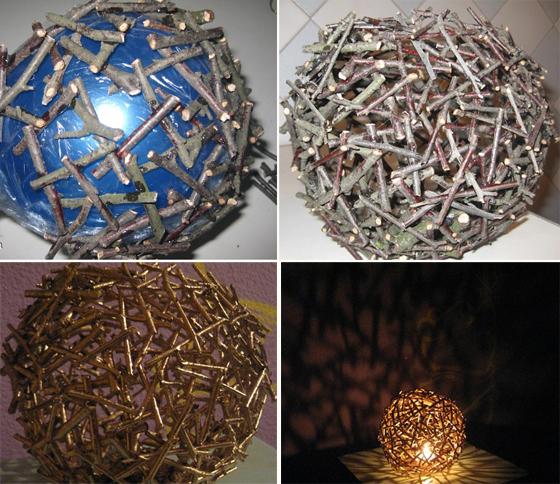 Светильники из подручного материала своими руками