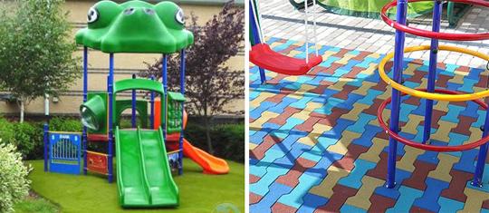 Выбор покрытия для детской площадки