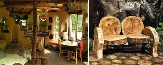 Интерьер дачного домика в эко стиле