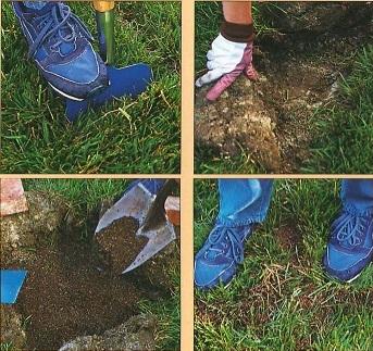 Как удалить впадины на газоне