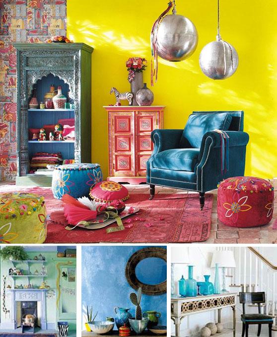 интерьер с бирюзовым цветом