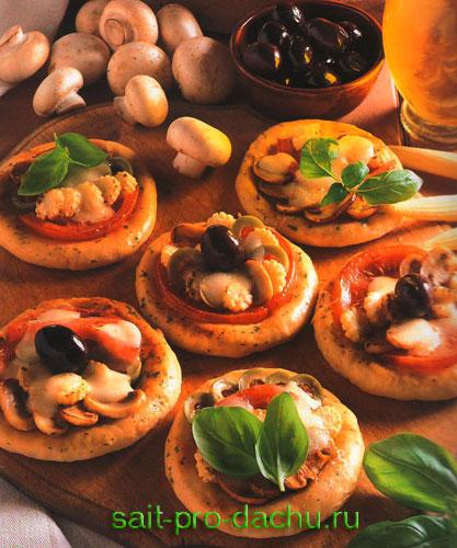 домашняя мини пицца
