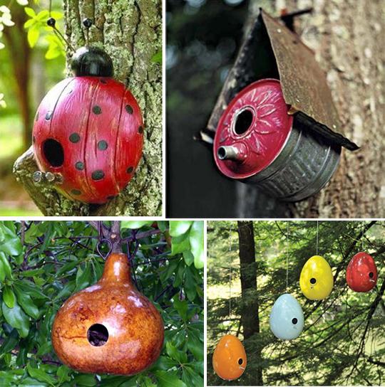 Креативные скворечники для сада