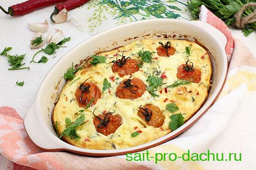 запеканка картофельная с помидорами