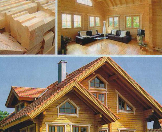Дом из клееного деревянного бруса