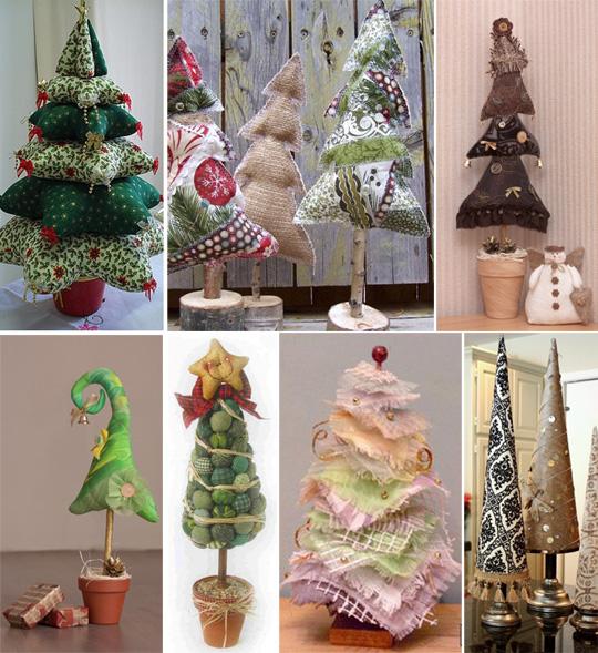 Рукодельные новогодние елки