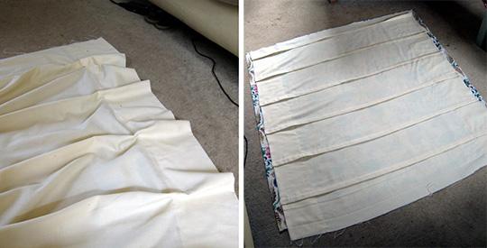 Как делать складки на римских шторах