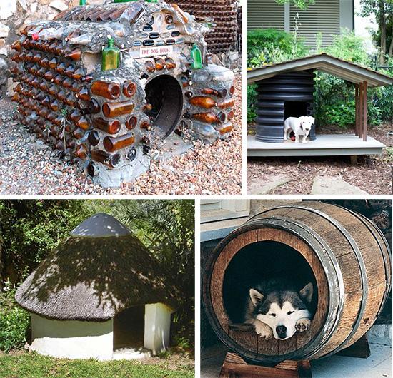 Собачья будка своими руками из подручных материалов