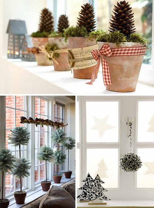 Какие бывают новогодние украшения на окна
