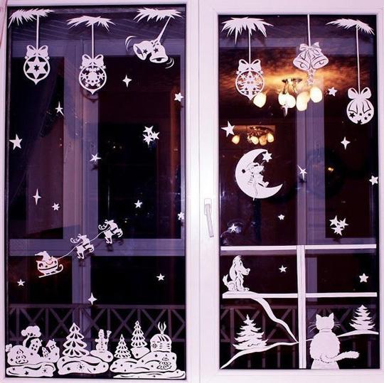 Новый Год. Украшения на окна