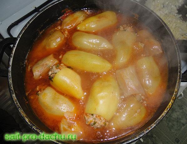 Фаршированные перцы в томатной пасте пошаговый рецепт с