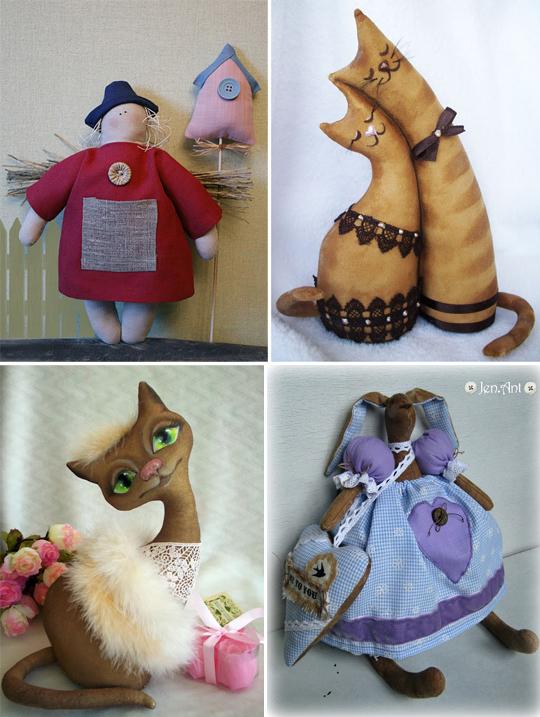 игрушечные кофейные коты