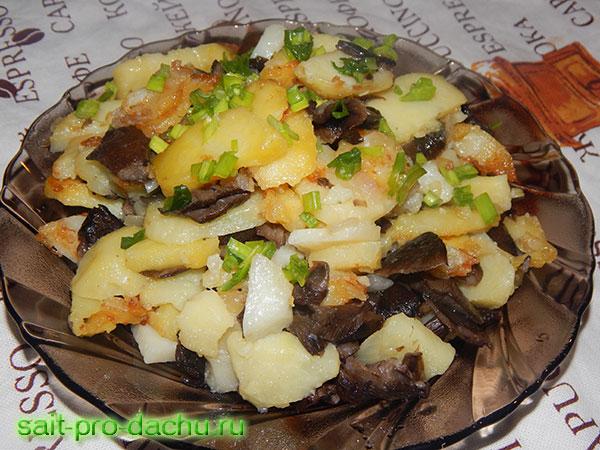 рецепт приготовления опят жареных с картошкой