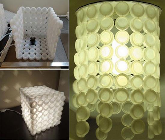 Светильники из пластиковых пробок