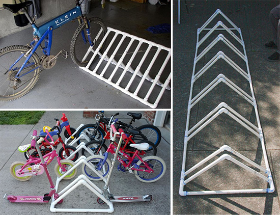 Пластиковая стоянка для велосипедов