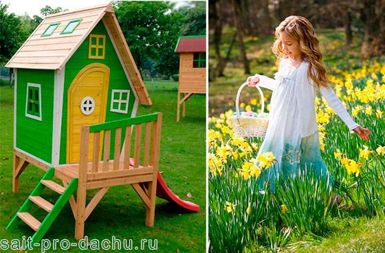 детский домик в саду