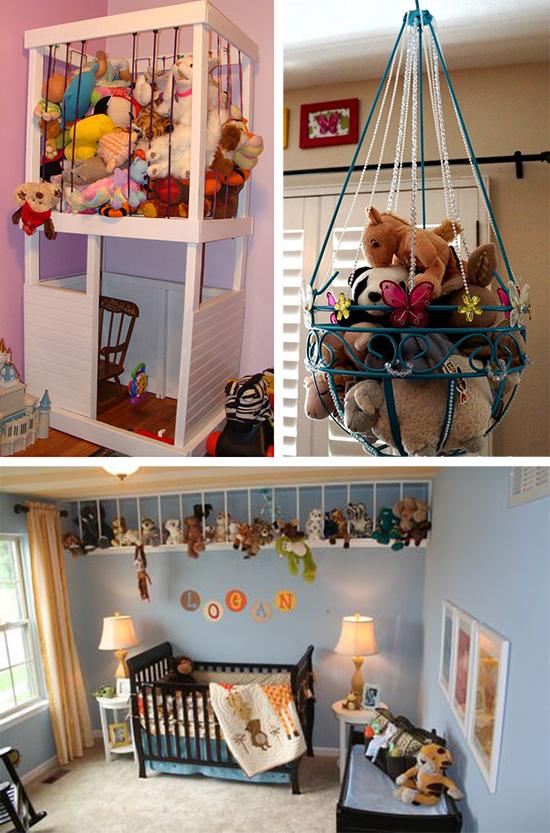 Идеи хранения мягких игрушек