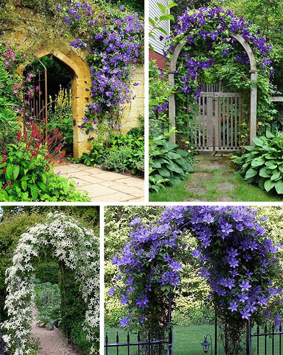 Арочные детали декора в саду