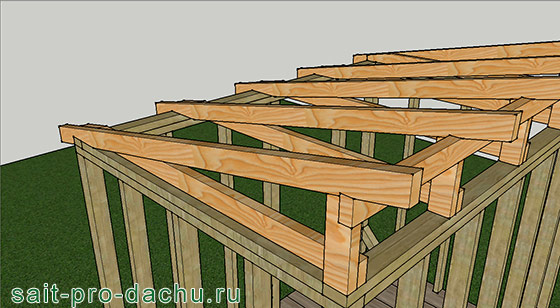 Крыша сарая односкатная своими руками 3