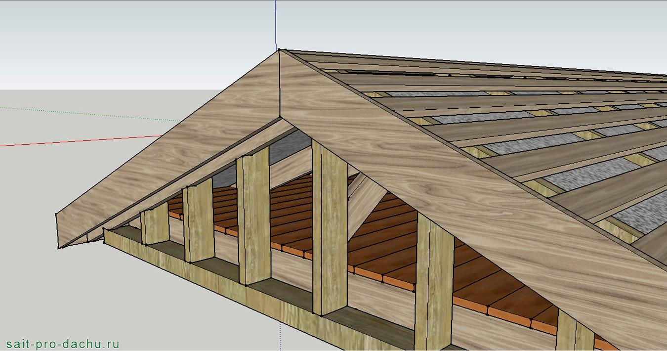 Посмотреть как сделать крышу
