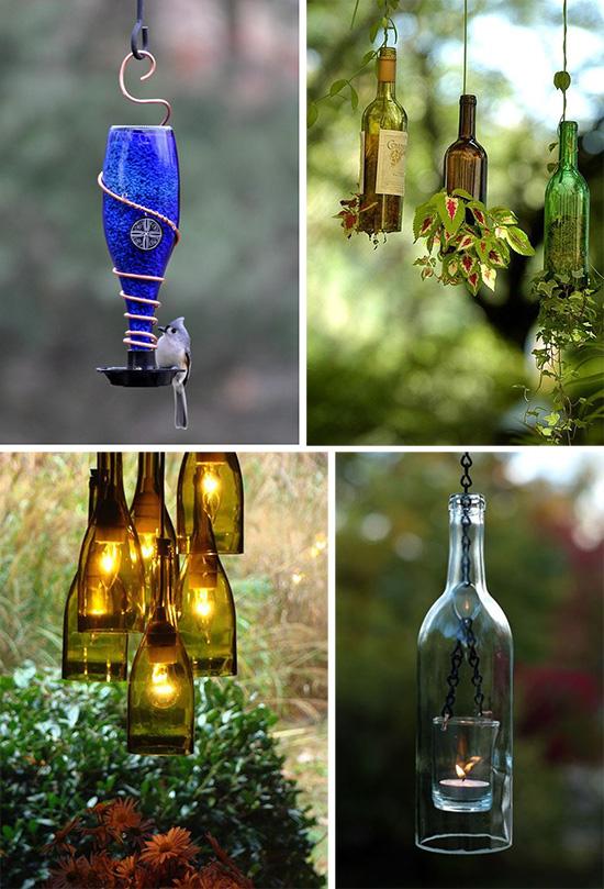 Идеи по использованию стеклянных бутылок