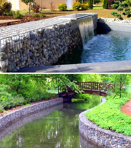 Оформление водоемов и фонтанов