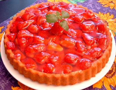 Пирог из клубники рецепт с песочное тесто