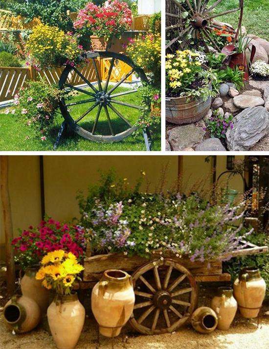 Цветники на колесах