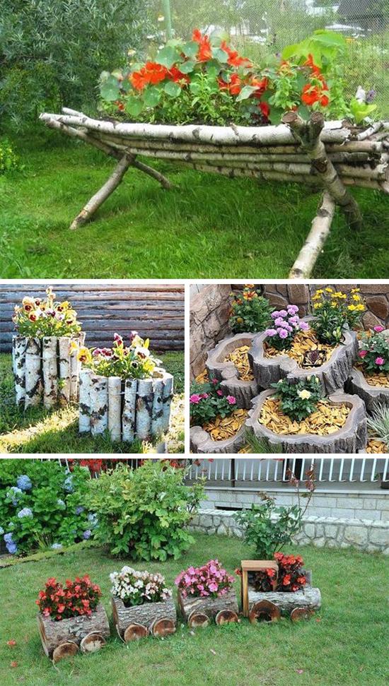Деревянный декор цветочных композиций