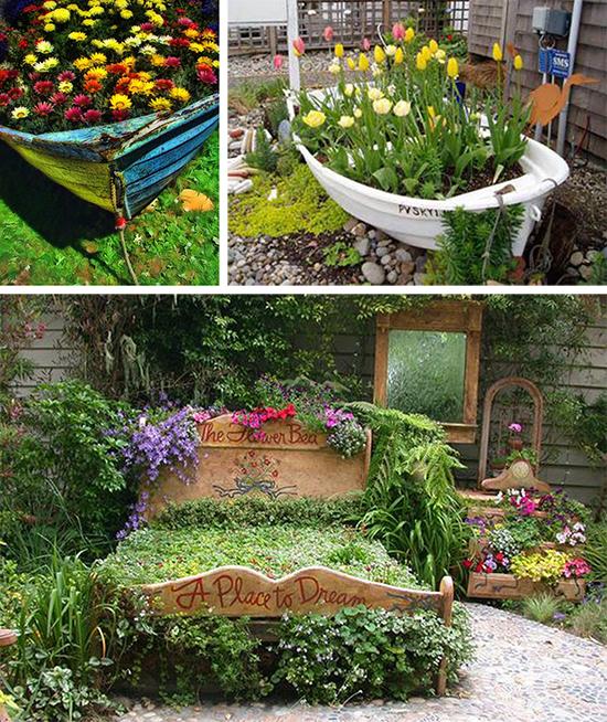 Необычные решения садовых клумб