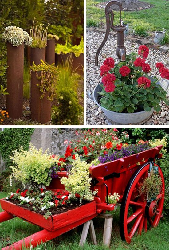 Красивые цветочные акценты в вашем саду